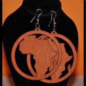 Wood African Earrings